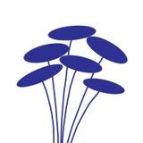 blåa blommor Royaltyfri Illustrationer