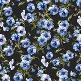 2 blåa blommor Fotografering för Bildbyråer