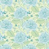 blåa blommor mönsan seamless Royaltyfria Bilder