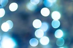 Blåa Bokeh från kamera Royaltyfri Bild