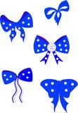 blåa bows Royaltyfria Bilder
