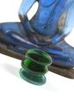 blåa buddha arkivbild