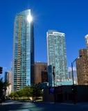 blåa byggnader Royaltyfria Bilder