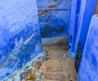 Blåa byggnader i Jodhpur, Indien arkivbilder