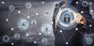 Blåa Chip Client Remotely Locking Smart apparater Royaltyfri Fotografi