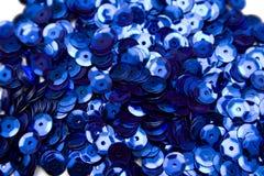 blåa confettis Arkivfoton