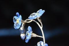 blåa crystal blommor Arkivfoto