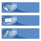 blåa dataetiketter Arkivbild