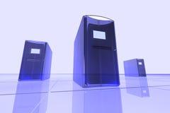 blåa datorer Royaltyfri Fotografi