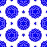 Blåa David Star Seamless Background Arkivbild