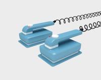 blåa defibrillatorblock Arkivbilder