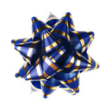 blåa dekorativa prydnadband Arkivbilder