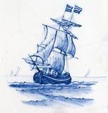 blåa delft Royaltyfria Foton
