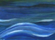 blåa djupa waves Fotografering för Bildbyråer
