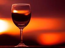 blåa dof-exponeringsglas blir grund wine Arkivfoton