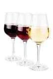 blåa dof-exponeringsglas blir grund wine Royaltyfri Foto