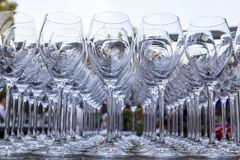 blåa dof-exponeringsglas blir grund wine Royaltyfri Bild