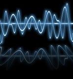 blåa elektriska reflexionswaves arkivfoto