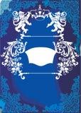 blåa element inramniner heraldiskt vektor illustrationer