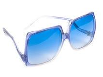 blåa exponeringsglas Arkivbild