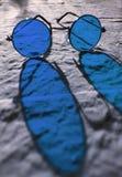 blåa exponeringsglas Arkivbilder
