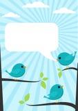 blåa fåglar Arkivfoto