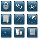 blåa företags tecken 1 Arkivfoto