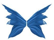 blåa faeryvingar Arkivbilder