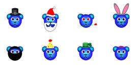 Blåa feriebjörnar stock illustrationer