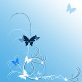 blåa fjärilar Royaltyfria Foton