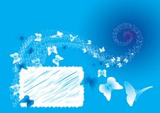 blåa fjärilar Fotografering för Bildbyråer