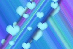 blåa flödeshjärtor Royaltyfri Fotografi