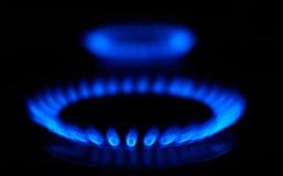 blåa flammor Royaltyfri Foto