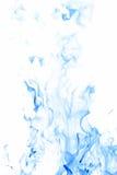 blåa flammor Arkivbild