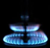 blåa flammor Arkivfoto
