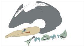 Blåa flikar för kormoran royaltyfri illustrationer