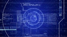 Blåa futuristiska technopaneler arkivfilmer