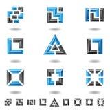 blåa fyrkanter royaltyfri illustrationer