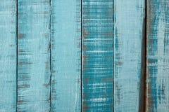 blåa gammala plankor Arkivbilder