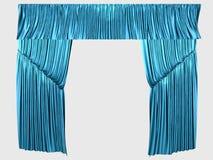 blåa gardiner royaltyfria foton