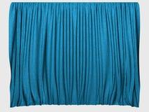 blåa gardiner Royaltyfri Bild