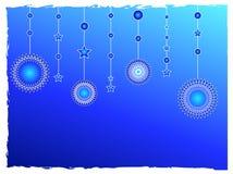 blåa garneringstjärnor Royaltyfri Foto