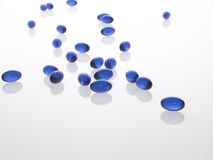 blåa gelpills Arkivfoton