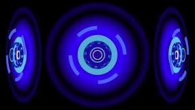 Blåa glödande hjul, illustration 3d Arkivbilder