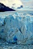 Blåa glaciärer Arkivfoton
