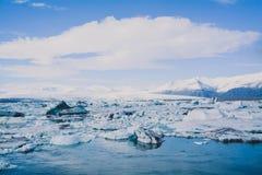 Blåa Glaciar Royaltyfri Foto