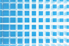 blåa glass fyrkanter Royaltyfri Fotografi