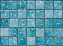 blåa glass tegelplattor Arkivbilder