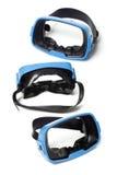blåa goggles som simmar tre royaltyfri bild