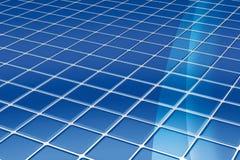 blåa golvtegelplattor Arkivbilder
